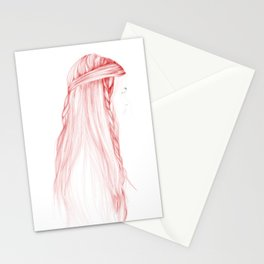 Red Hairstyle 1 Stationery Cards