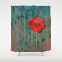 alone Shower Curtains featuring Alone by Klara Acel