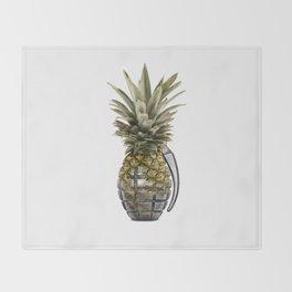 Pineapple Grenade Throw Blanket