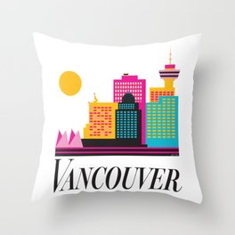 Vancouver Coal Harbour Throw Pillow