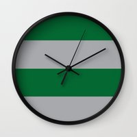 slytherin Wall Clocks featuring Slytherin by Yajaira Gomez