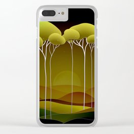 Sunrise on the Hill Clear iPhone Case