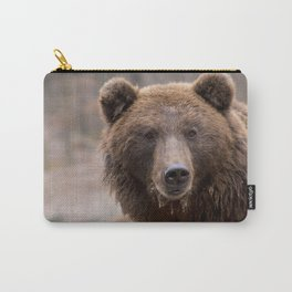 Beautiful Brown Bear Carry-All Pouch