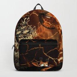 Funny, cool giraffe Backpack
