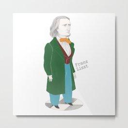 Franz Liszt Metal Print