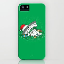 The Santa Shark iPhone Case
