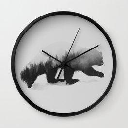 Jerv (black & white version) Wall Clock