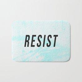 RESIST 1.0 - Black on Teal #resistance Bath Mat