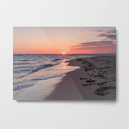Classic Beach Sunrise Metal Print