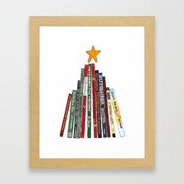 Christmas (Book) Tree Framed Art Print
