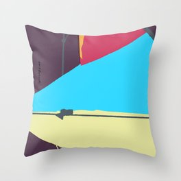 Kite—Aubergine Throw Pillow