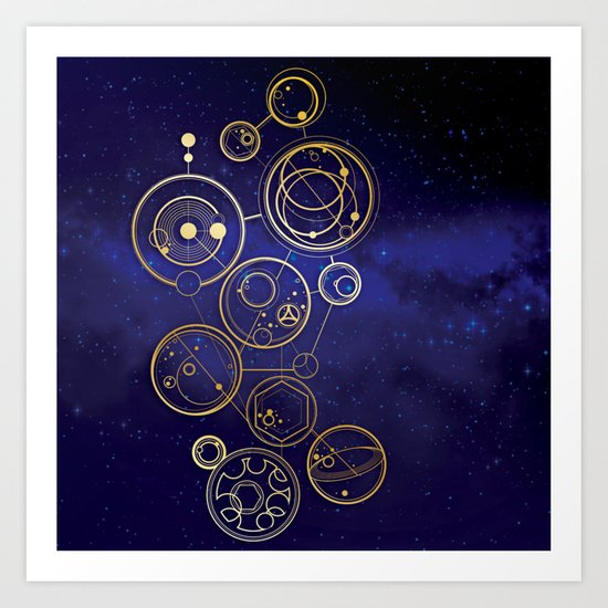 Gallifrey Gold Space Geometry by polliadesign