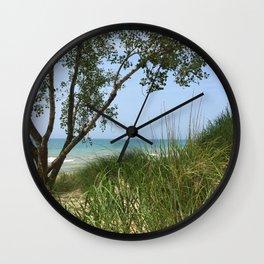 Indiana National Lakeshore Wall Clock