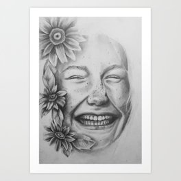 Sunflower Smiles Art Print