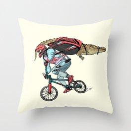 Extream biker Throw Pillow