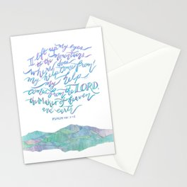 My Help Comes From The Lord - Psalm 121:1~2 Stationery Cards