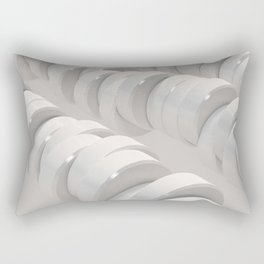 Pattern of white cylinders Rectangular Pillow
