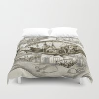 fish Duvet Covers featuring fish by Кaterina Кalinich