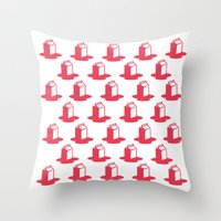 milk Throw Pillows featuring Milk by SMOKIN' HOT MEN