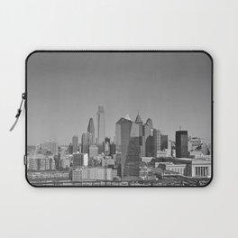 Black and White Philadelphia Skyline Laptop Sleeve
