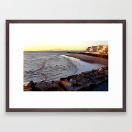 By the shore (New Jersey) Framed Art Print
