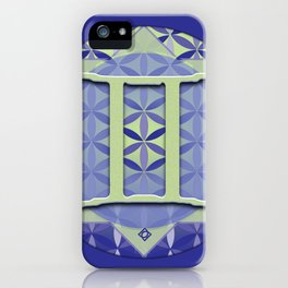 Flower of Life GEMINI Astrology Design iPhone Case