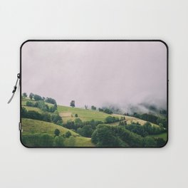 Mist Covered Black Forest Germany Laptop Sleeve
