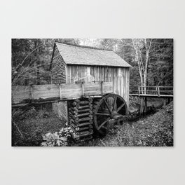 Cable Mill - Old Mill in Great Smoky Mountains Canvas Print