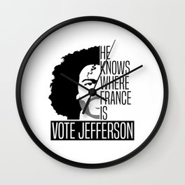 Vote For Thomas Jefferson Wall Clock