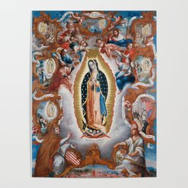 Virgin of Guadalupe, 1779 - Mexican Artwork Poster