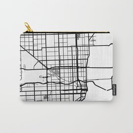 MIAMI FLORIDA BLACK CITY STREET MAP ART Carry-All Pouch