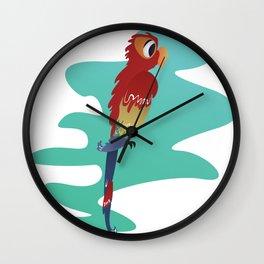 Little Parrot Wall Clock