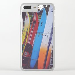 Surf-board-s up Clear iPhone Case