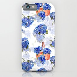 Cape Cod Hydrangeas and Baskets iPhone Case