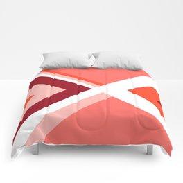 Living Coral - Mid Century Modern Geometry 2 Comforters