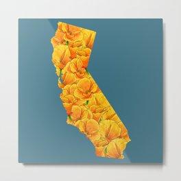 California in Flowers Metal Print