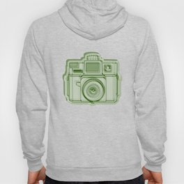 I Still Shoot Film Holga Logo - Reversed Green Hoody