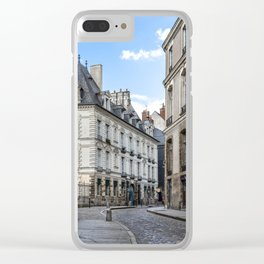 Old town street of Rennes Clear iPhone Case