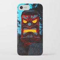 returns iPhone & iPod Cases featuring Tiki returns by Vorona Photography