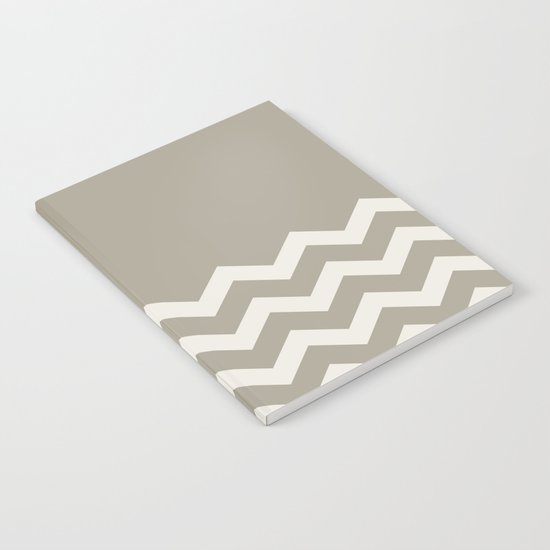 Chevron Colorblock Alabaster Blue Gray Notebook
