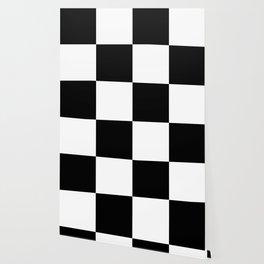 Black & White Squares Wallpaper