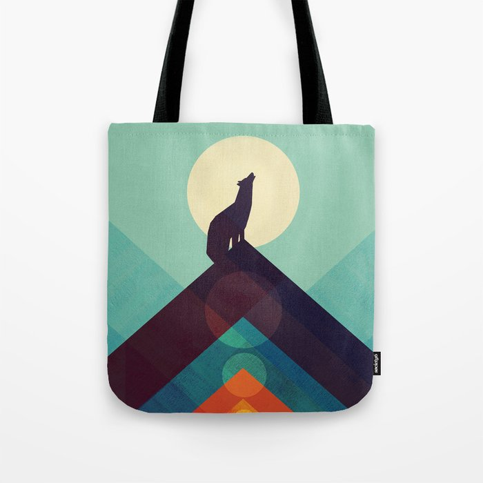 Howling Wild Wolf Tote Bag