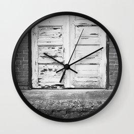 Blue Door Frame Wall Clock