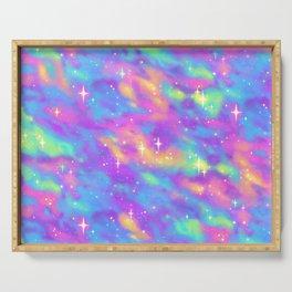 Pastel Galaxy Serving Tray