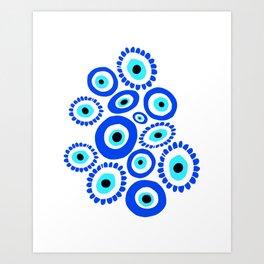 Evil Eye Mediterranean Lucky Symbol Art Print
