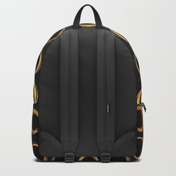 Solar Eclipse MCM Gold-Black Backpack
