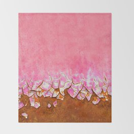 Pink and Rust Throw Blanket