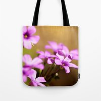 flora Tote Bags featuring Flora  by MVision Photography