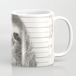 Sloth in a Mugshot Coffee Mug