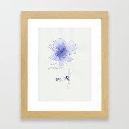 petite but powerful Framed Art Print
